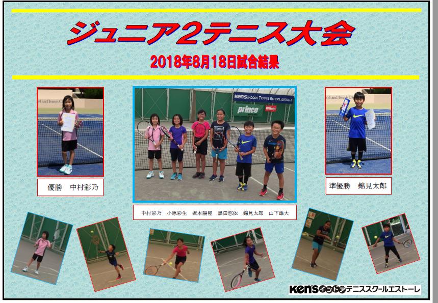 ジュニア2テニス大会結果