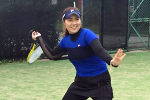 岩崎コーチプレー写真